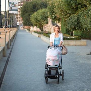 NatureBond Stillschutz Stillen | Atmungsaktiver und sicherster Baumwollbezug Mehrzweck für Baby Autositzbezüge Baldachin Einkaufswagenbezug Schal Licht Decke Kinderwagen (Sunrise Pink) - 7