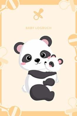 Panda Mama Baby - Baby Logbuch: A5 Baby Tagebuch | Baby Logbuch für Schlaf Essen und Gesundheit | Tagebuch für Neugeborene, Junge Eltern, Mütter und Väter - 1