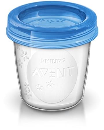 Philips AVENT SCF619/05 Aufbewahrungsbecher für Muttermilch, Becher inklusive Deckel - 2