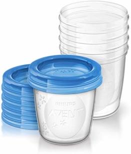Philips AVENT SCF619/05 Aufbewahrungsbecher für Muttermilch, Becher inklusive Deckel - 1