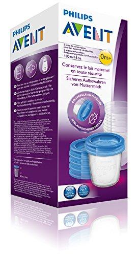 Philips AVENT SCF619/05 Aufbewahrungsbecher für Muttermilch, Becher inklusive Deckel - 4
