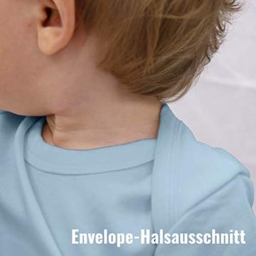 Shirtracer Sprüche Baby - Ich Schreie Nicht, ich bestelle Essen! - 3/6 Monate - Babyblau - Baby Strampler lustig - BZ10 - Baby Body Kurzarm für Jungen und Mädchen - 4