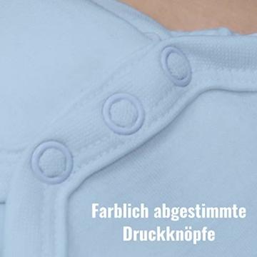 Shirtracer Sprüche Baby - Ich Schreie Nicht, ich bestelle Essen! - 3/6 Monate - Babyblau - Baby Strampler lustig - BZ10 - Baby Body Kurzarm für Jungen und Mädchen - 5