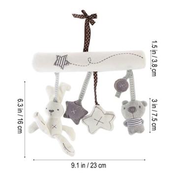 Toyvian Baby Krippe Spielzeug Kinderbett Mobile Rassel Bett Glocke Spielzeug Niedlichen Plüsch Bunny Star Bär Weiches Spielzeug - 2