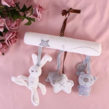 Toyvian Baby Krippe Spielzeug Kinderbett Mobile Rassel Bett Glocke Spielzeug Niedlichen Plüsch Bunny Star Bär Weiches Spielzeug - 4