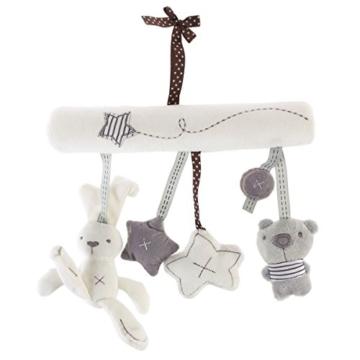Toyvian Baby Krippe Spielzeug Kinderbett Mobile Rassel Bett Glocke Spielzeug Niedlichen Plüsch Bunny Star Bär Weiches Spielzeug - 1