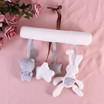 Toyvian Baby Krippe Spielzeug Kinderbett Mobile Rassel Bett Glocke Spielzeug Niedlichen Plüsch Bunny Star Bär Weiches Spielzeug - 5