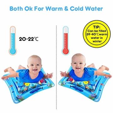 VATOS Wassermatte Baby, Baby Spielzeuge 3 6 9 Monate, Baby Wassermatte ist Perfektes Sensorisches Spielzeug für Baby Frühe Entwicklung Aktivitätszentren - 2