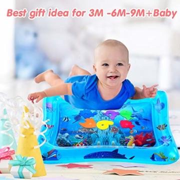 VATOS Wassermatte Baby, Baby Spielzeuge 3 6 9 Monate, Baby Wassermatte ist Perfektes Sensorisches Spielzeug für Baby Frühe Entwicklung Aktivitätszentren - 3