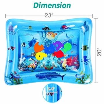 VATOS Wassermatte Baby, Baby Spielzeuge 3 6 9 Monate, Baby Wassermatte ist Perfektes Sensorisches Spielzeug für Baby Frühe Entwicklung Aktivitätszentren - 4