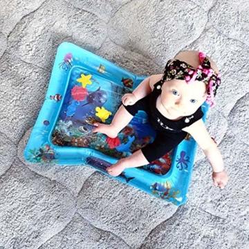 VATOS Wassermatte Baby, Baby Spielzeuge 3 6 9 Monate, Baby Wassermatte ist Perfektes Sensorisches Spielzeug für Baby Frühe Entwicklung Aktivitätszentren - 5