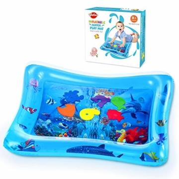 VATOS Wassermatte Baby, Baby Spielzeuge 3 6 9 Monate, Baby Wassermatte ist Perfektes Sensorisches Spielzeug für Baby Frühe Entwicklung Aktivitätszentren - 7