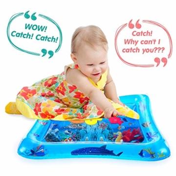 VATOS Wassermatte Baby, Baby Spielzeuge 3 6 9 Monate, Baby Wassermatte ist Perfektes Sensorisches Spielzeug für Baby Frühe Entwicklung Aktivitätszentren - 8