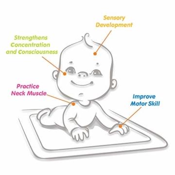 VATOS Wassermatte Baby, Baby Spielzeuge 3 6 9 Monate, Baby Wassermatte ist Perfektes Sensorisches Spielzeug für Baby Frühe Entwicklung Aktivitätszentren - 9