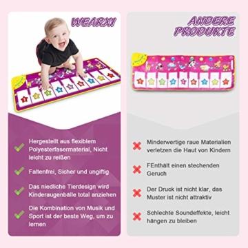 WEARXI Baby Spielzeug Ab 1 2 3 4 5 6 Jahre Mädchen Junge - Kinderspielzeug Babyspielzeug Lernspielzeug Kleinkind Spielzeug, Tanzmatte, Klaviermatte, Musikmatte, Keyboard Kinder Spielsachen Geschenke - 3