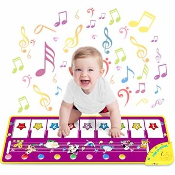 WEARXI Baby Spielzeug Ab 1 2 3 4 5 6 Jahre Mädchen Junge - Kinderspielzeug Babyspielzeug Lernspielzeug Kleinkind Spielzeug, Tanzmatte, Klaviermatte, Musikmatte, Keyboard Kinder Spielsachen Geschenke - 1