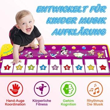 WEARXI Baby Spielzeug Ab 1 2 3 4 5 6 Jahre Mädchen Junge - Kinderspielzeug Babyspielzeug Lernspielzeug Kleinkind Spielzeug, Tanzmatte, Klaviermatte, Musikmatte, Keyboard Kinder Spielsachen Geschenke - 6