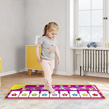 WEARXI Baby Spielzeug Ab 1 2 3 4 5 6 Jahre Mädchen Junge - Kinderspielzeug Babyspielzeug Lernspielzeug Kleinkind Spielzeug, Tanzmatte, Klaviermatte, Musikmatte, Keyboard Kinder Spielsachen Geschenke - 7