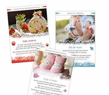 Zur Geburt » Das Geschenk zur Geburt für die Eltern. 12 Geschenkgutscheine mit 12 liebevollen Aufmerksamkeiten. 12 x Unterstützung schenken. 12 x füreinander da sein. Die Geschenkidee zur Geburt. - 3