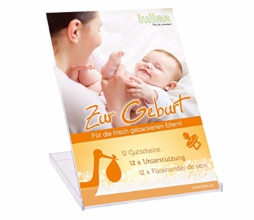 Zur Geburt » Das Geschenk zur Geburt für die Eltern. 12 Geschenkgutscheine mit 12 liebevollen Aufmerksamkeiten. 12 x Unterstützung schenken. 12 x füreinander da sein. Die Geschenkidee zur Geburt. - 1
