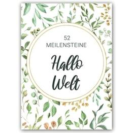 52 Baby Meilensteinkarten für Junge Mädchen + Geschenk zur Geburt Schwangerschaft Babyparty + 1. Jahr Meilenstein Milestone Karten für werdende Eltern + Fotokarten Monatskarten Geschenkset deutsch - 1