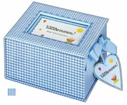 """Baby-Schatzkästchen """"Willkommen!"""" (hellblau) - 1"""
