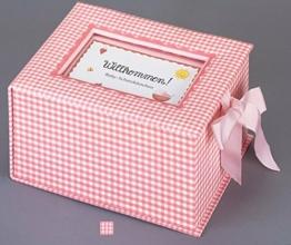 """Baby-Schatzkästchen """"Willkommen!"""" (rosa) - 1"""