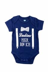 Emmis Glück Baby Body Ladies, Hier Bin ich - Gr. 50/56 Geschenk zur Geburt 100% Baumwolle - 1