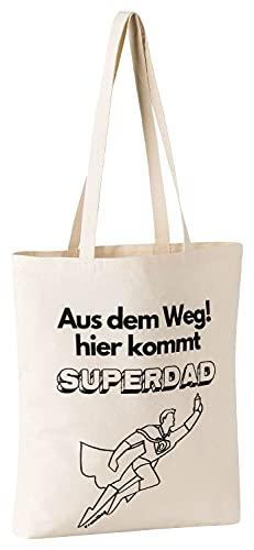 FremiBag Super Dad Tasche | Geschenk zur Geburt | Tasche als Geschenk für Papa, Vater oder Opa zum Geburtstag | Geschenk für Weihnachten | Vatertagsgeschenk | EIN lustiger Hit - 1
