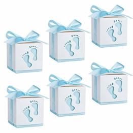 Geschenkbox, Süßigkeit Kästen Gastgeschenk Box für Neugeborene Babydusche, Pralinenschachtel für Kinder Geburtstag, Hochzeit, Taufe Geburt Party (50 Stück) - 1