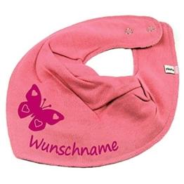 HALSTUCH SCHMETTERLING mit Namen oder Text personalisiert bubblepink für Baby oder Kind - 1