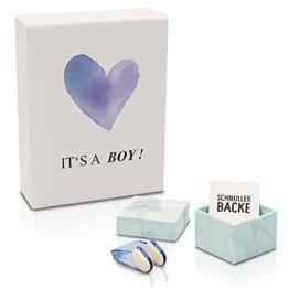 Nasenklammer zum Windeln wechseln - Süßes Geschenk zur Geburt & Lacher auf jeder Babyparty - Geschenkidee für werdende Mama und Papa - Zur Geburt und Schwangerschaft des neugeborenen Babys - Junge - 1